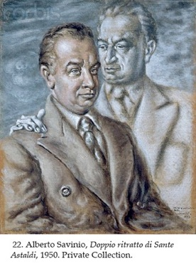 Double Portrait of Sante Astaldi by Alberto Savinio